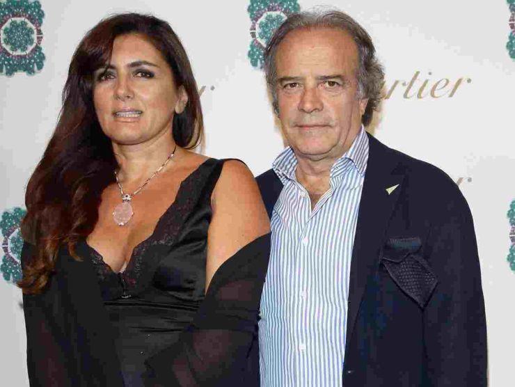 Enrico Montesano e la moglie
