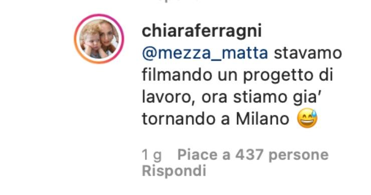 Chiara Ferragni commenta