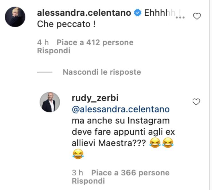 Commenti Alessandra Celentano e Zerbi