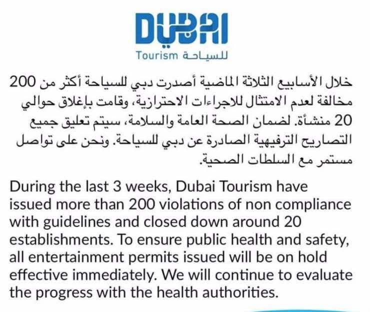 Dubai chiude