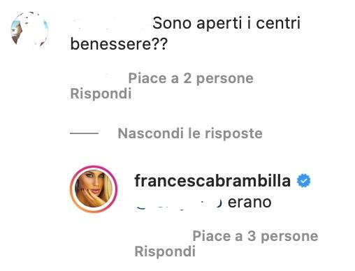 Francesca Brambilla commenti