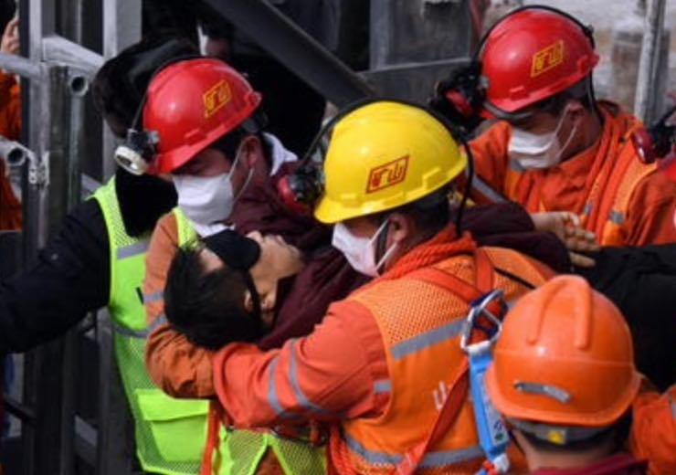 Minatori salvati in Cina (ANSA.IT)