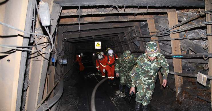 esplosione in miniera