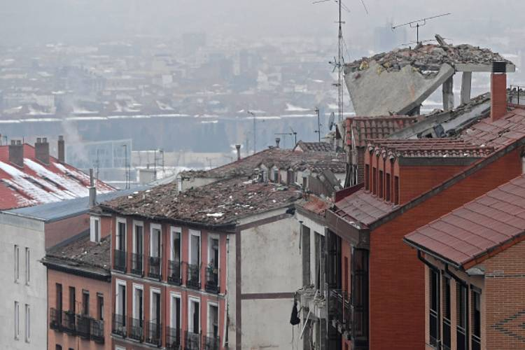madrid esplosione calle de toledo morti feriti