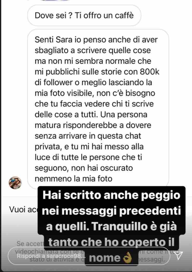 Sara Croce chat