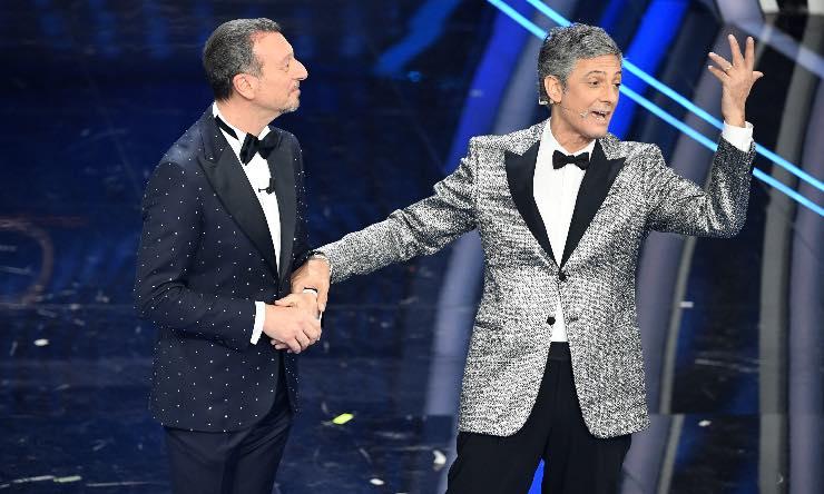Amadeus e Fiorello conduttori Sanremo