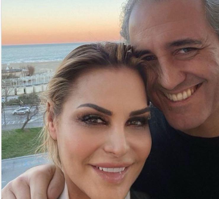 Simona Ventura e il marito