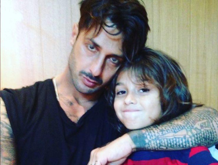 Fabrizio Corona e il figlio da piccolo