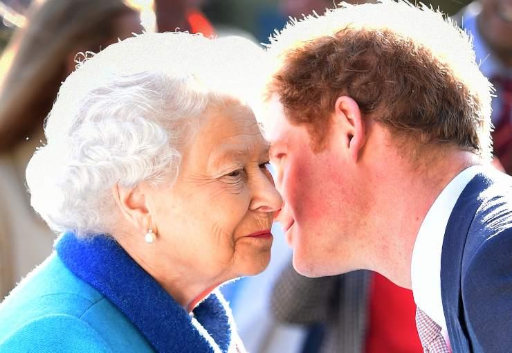 Principe Harry e sua nonna la Regina Elisabetta