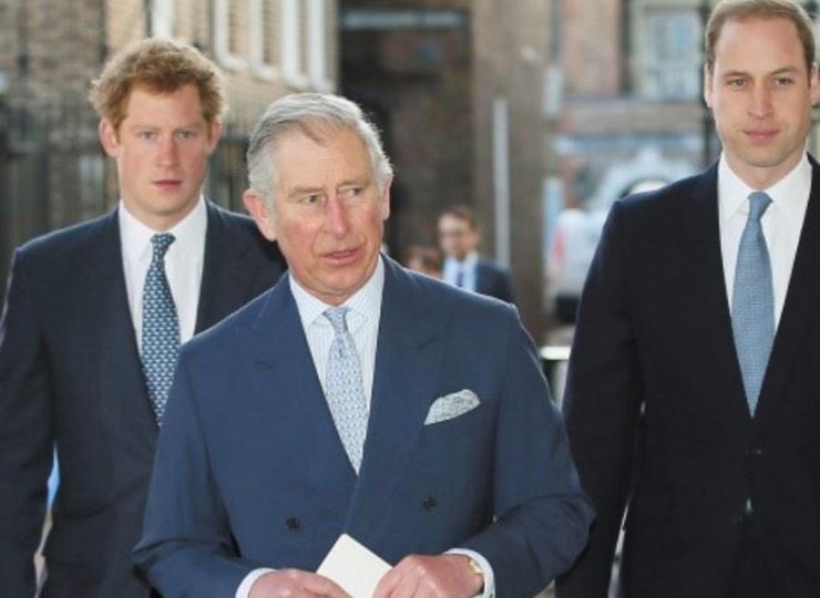 Harry, William e Carlo