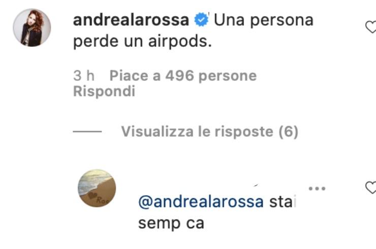 Risposta al commento di Andrea Delogu sotto il post di Stefano De Martino