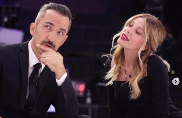 Alessia Marcuzzi e Nicola Savino a Le Iene