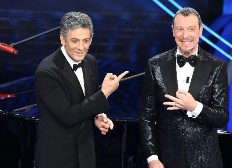 Amadeus e Fiorello (Getty Images)