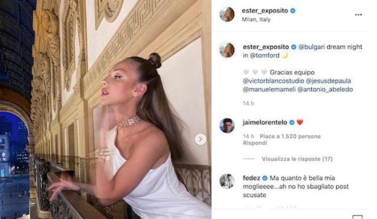 Fedez commenta la foto di Ester