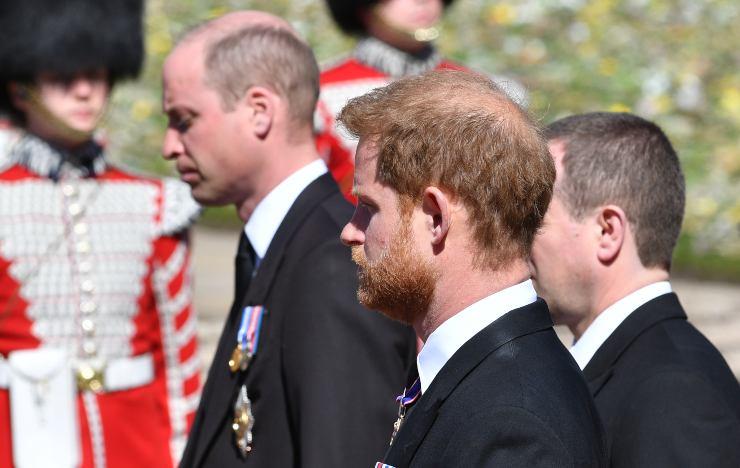 Harry e William, tensione al funerale di Filippo