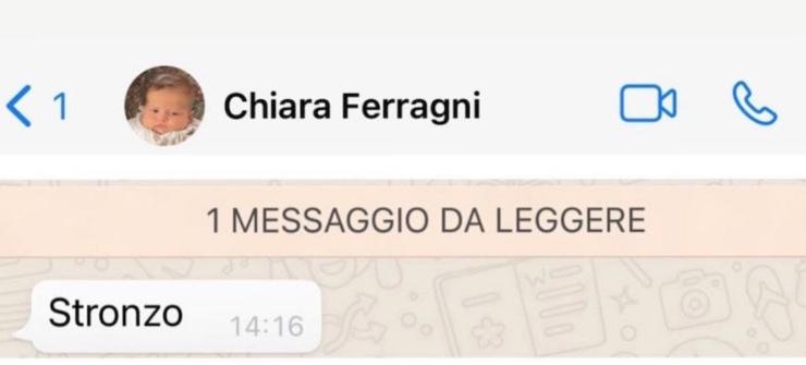 Messaggio Chiara Ferragni