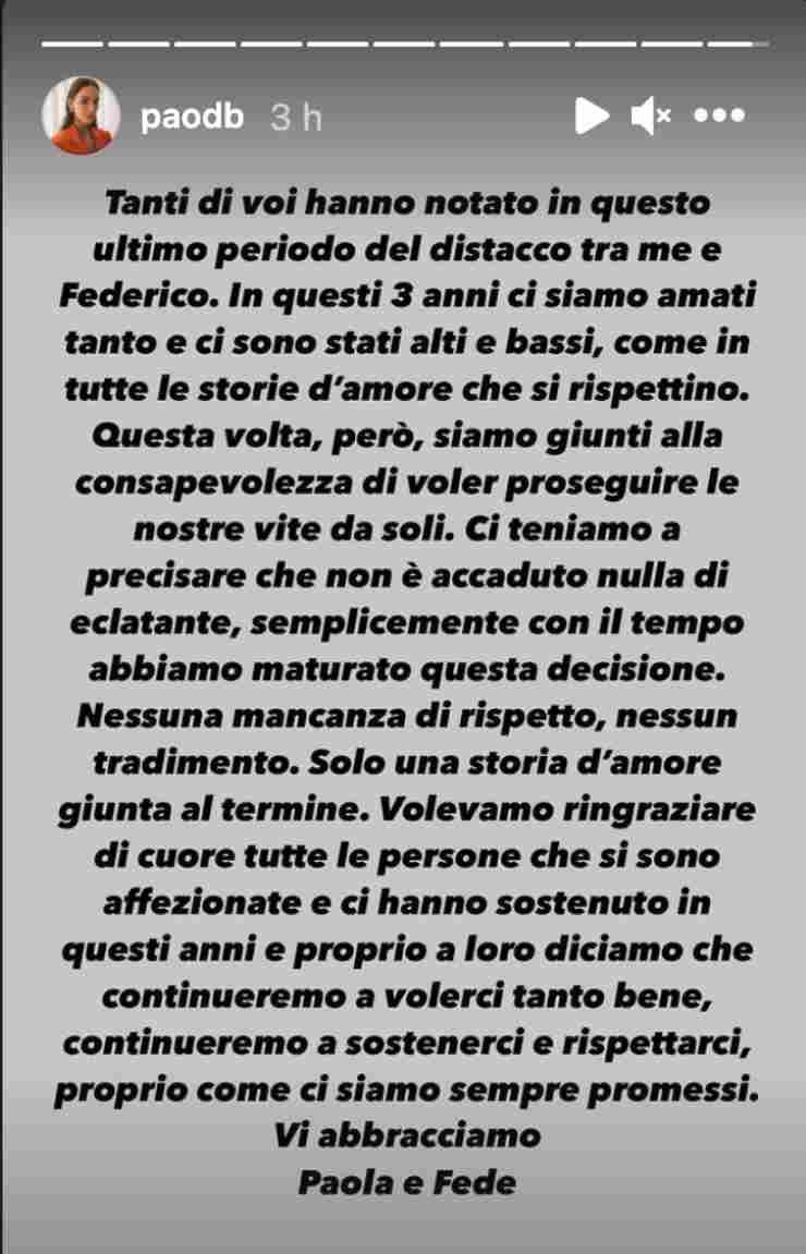 Screen Storia Paola Di Benedetto