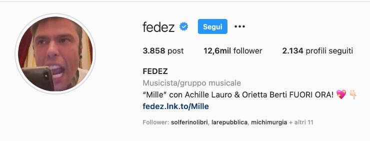 Fedez, Instagram