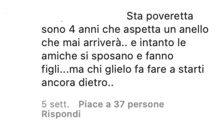 Commenti sotto la foto di Luca Onestini
