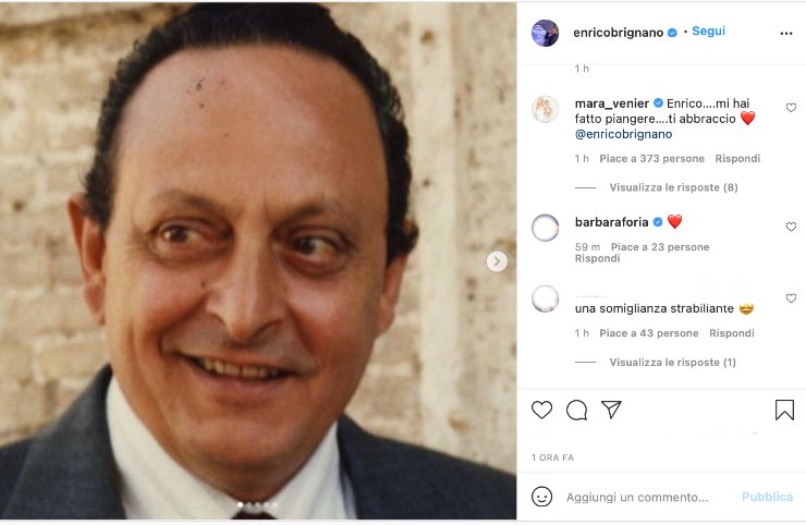 Il post da lacrime di Enrico Brignano per il papà