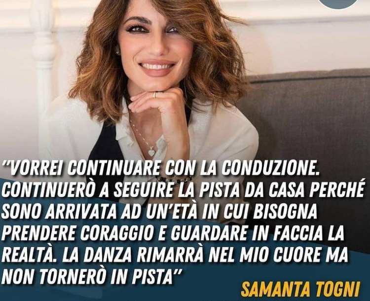 Samanta Togni Instagram post