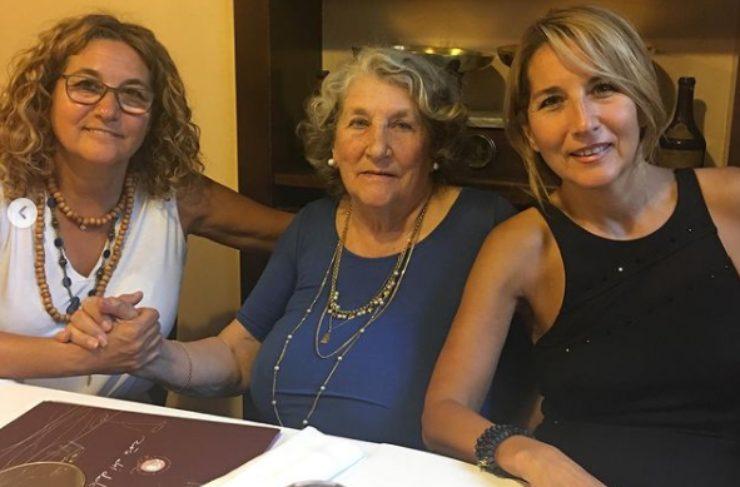 Jo Squillo, sua sorella Paola e la mamma